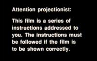 Projection Instructions